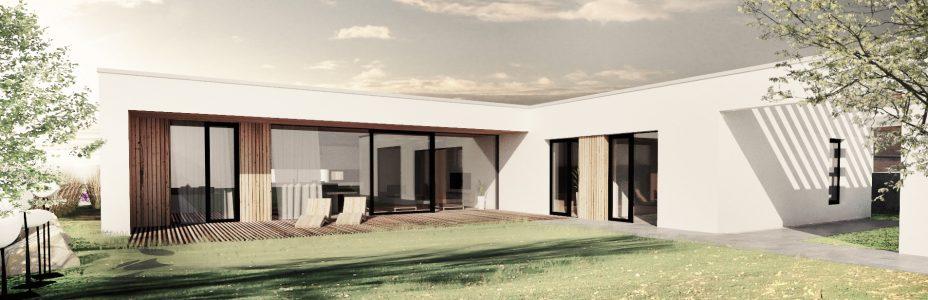 Novostavba moderního rodinného domu u Vyškova